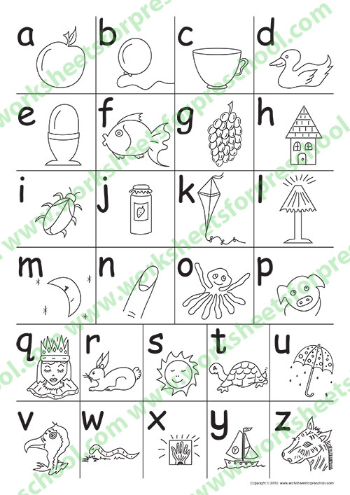 Preschool printables for 3 to 4 Year Old