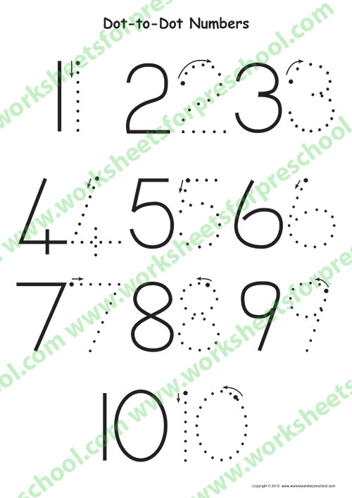 Dot worksheets preschoolers