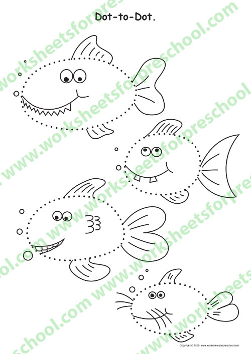 Preschool dot to dot worksheets