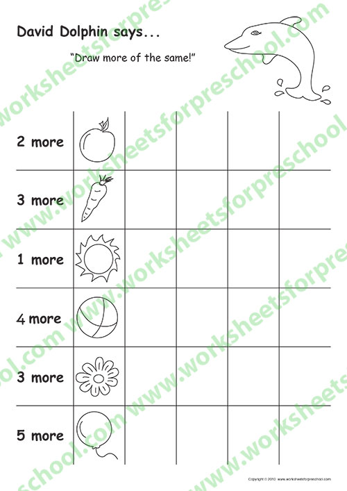 4 to 5 Year Old Preschool drawing worksheets