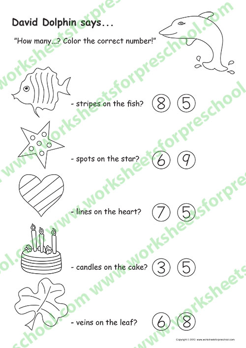 Number activities for preschoolers printable