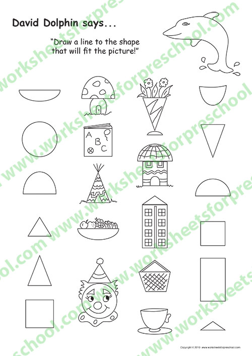 Prewriting shapes worksheet