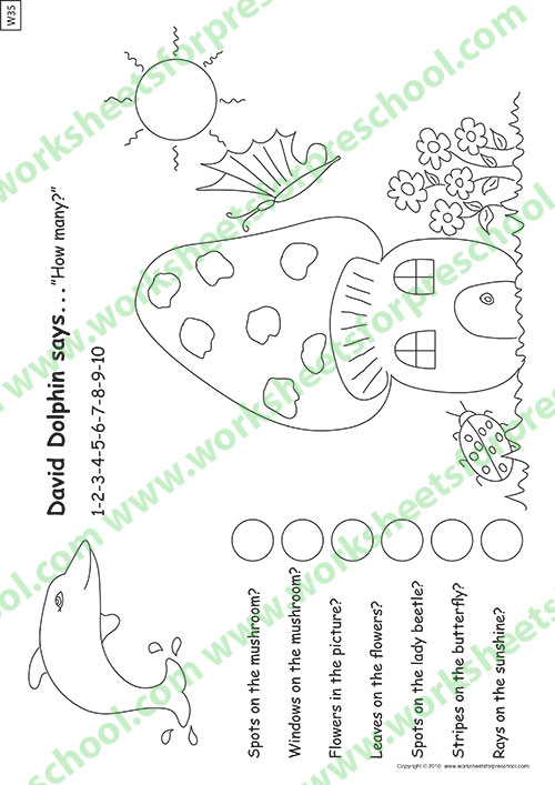 Preschool math sheets