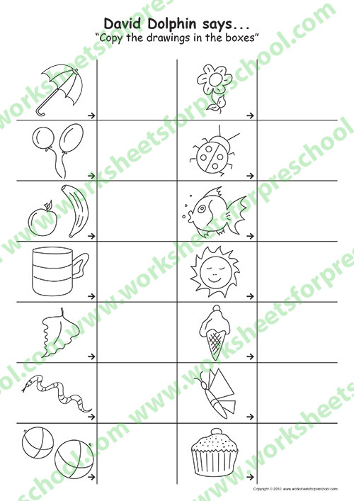 Nursery drawing worksheets