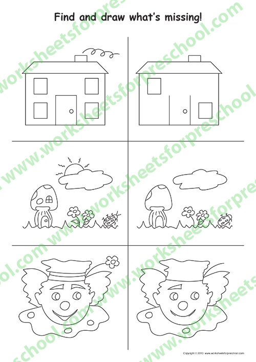 Drawing worksheets for kids