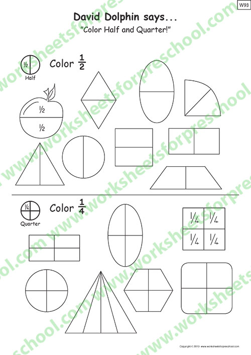 Printable preschool math worksheets