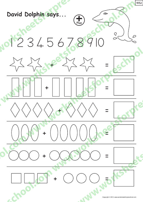 Math worksheets for kids